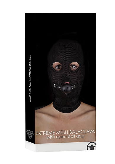 Маска с кляпом Extreme Mesh Balaclavea with Open Ball Gag